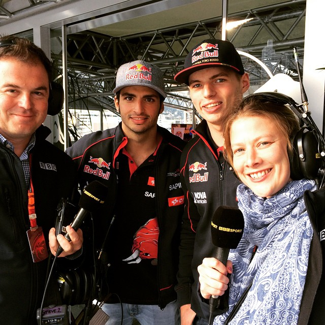 Great to have the Toro Rosso boys in the show on 5Live F1