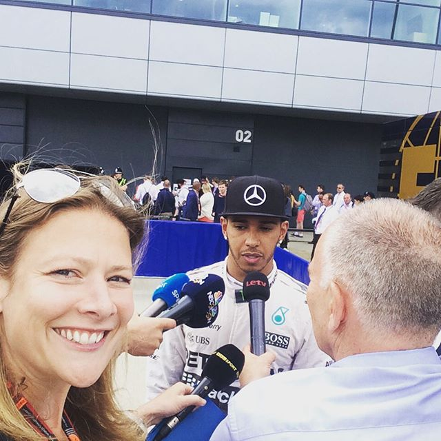 Me in the pen @silverstoneUK with @lewishamilton
